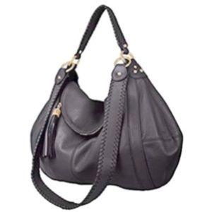"New Onna Ehrlich Gray Leather ""Rachel"" Bag"